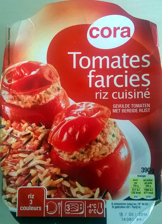 tomates farcies riz cuisiné - cora - 390 g