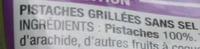Pistaches sans sel ajouté - Ingrédients