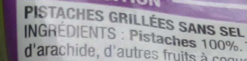 Pistaches sans sel ajouté - Ingrédients - fr