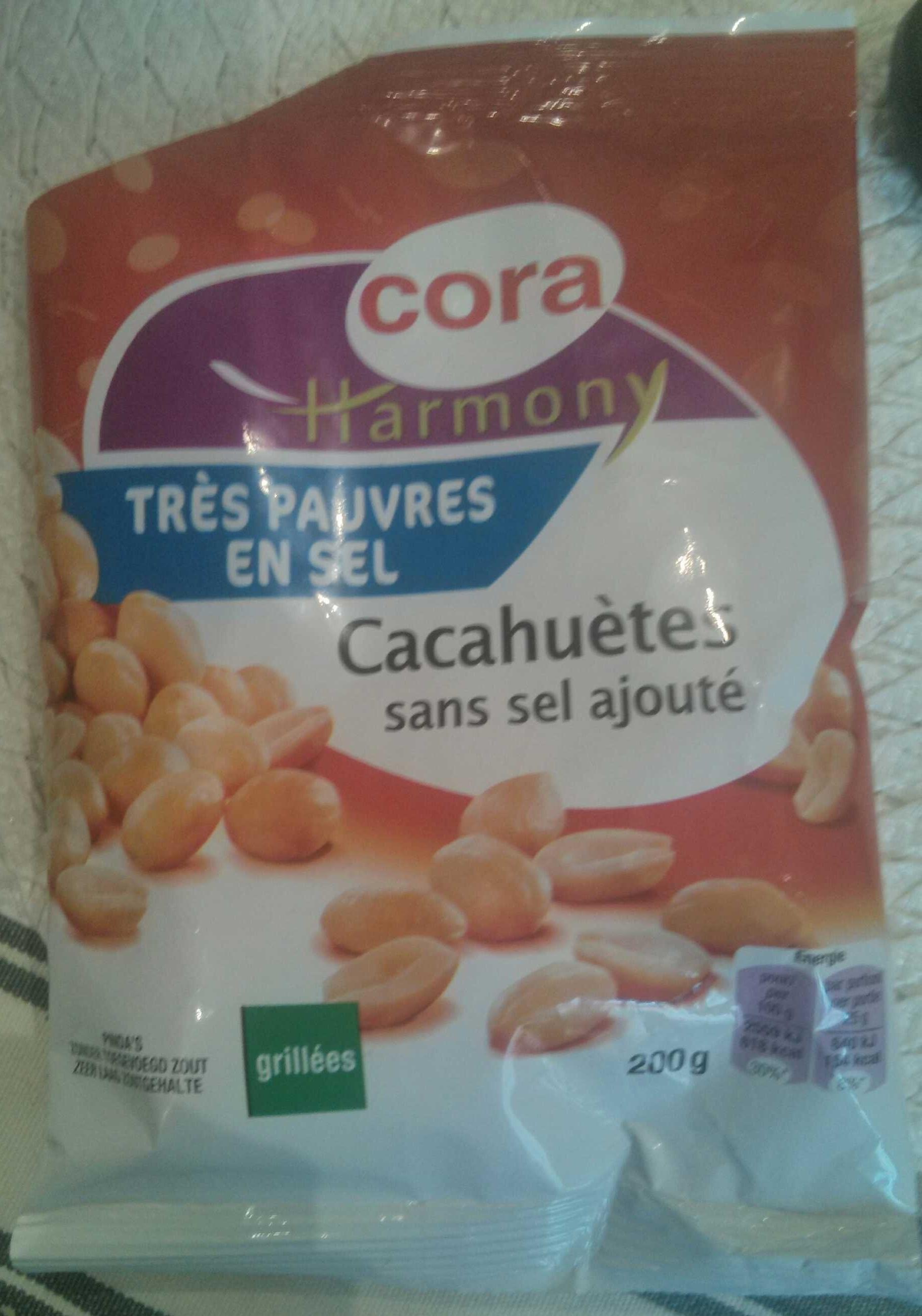 Harmony Cacahuètes grillées sans sel ajouté - Produit - fr