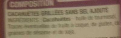 Harmony Cacahuètes grillées sans sel ajouté - Ingrédients - fr