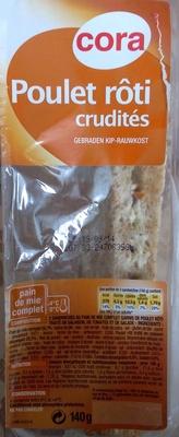 Sandwich poulet rôti, crudités au pain de mie complet - Product - fr
