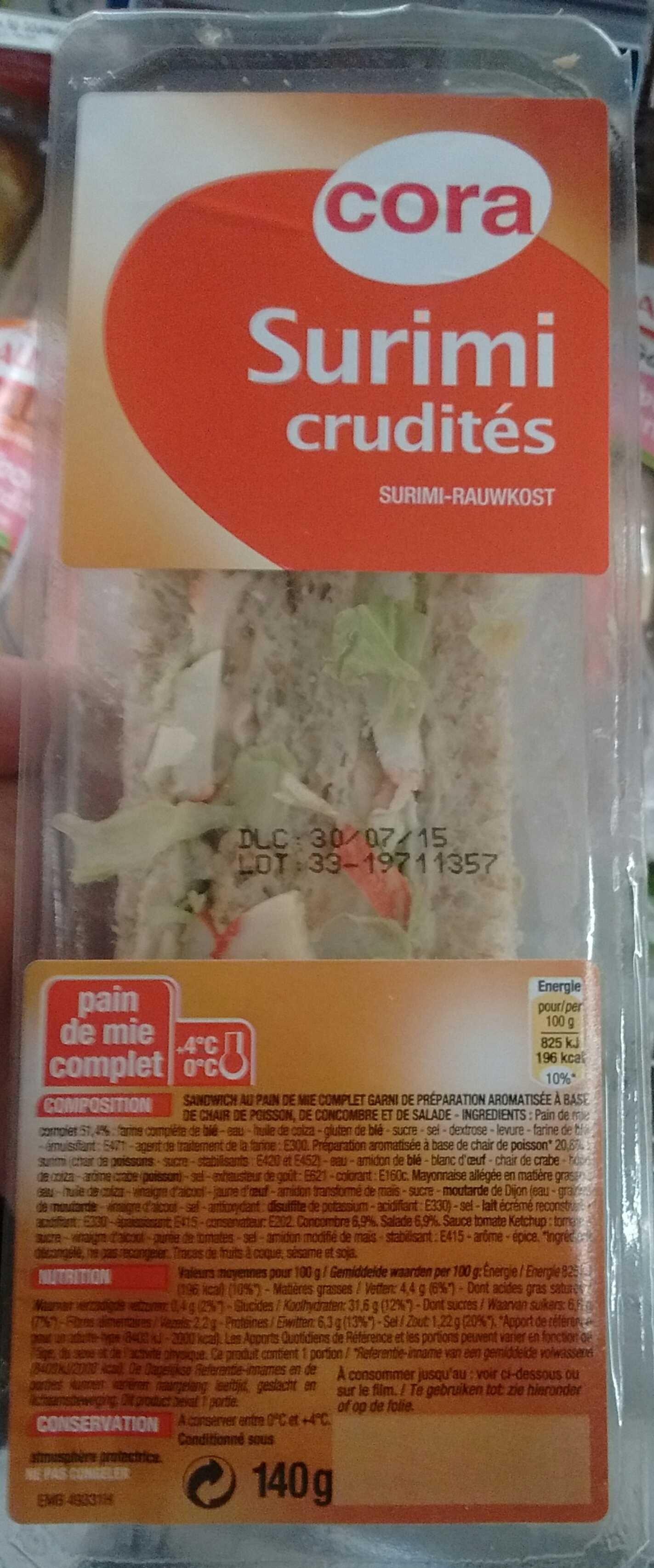 Surimi Crudités - Product - fr