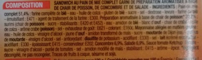 Surimi Crudités - Ingrediënten - fr
