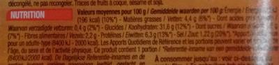 Surimi Crudités - Voedingswaarden - fr
