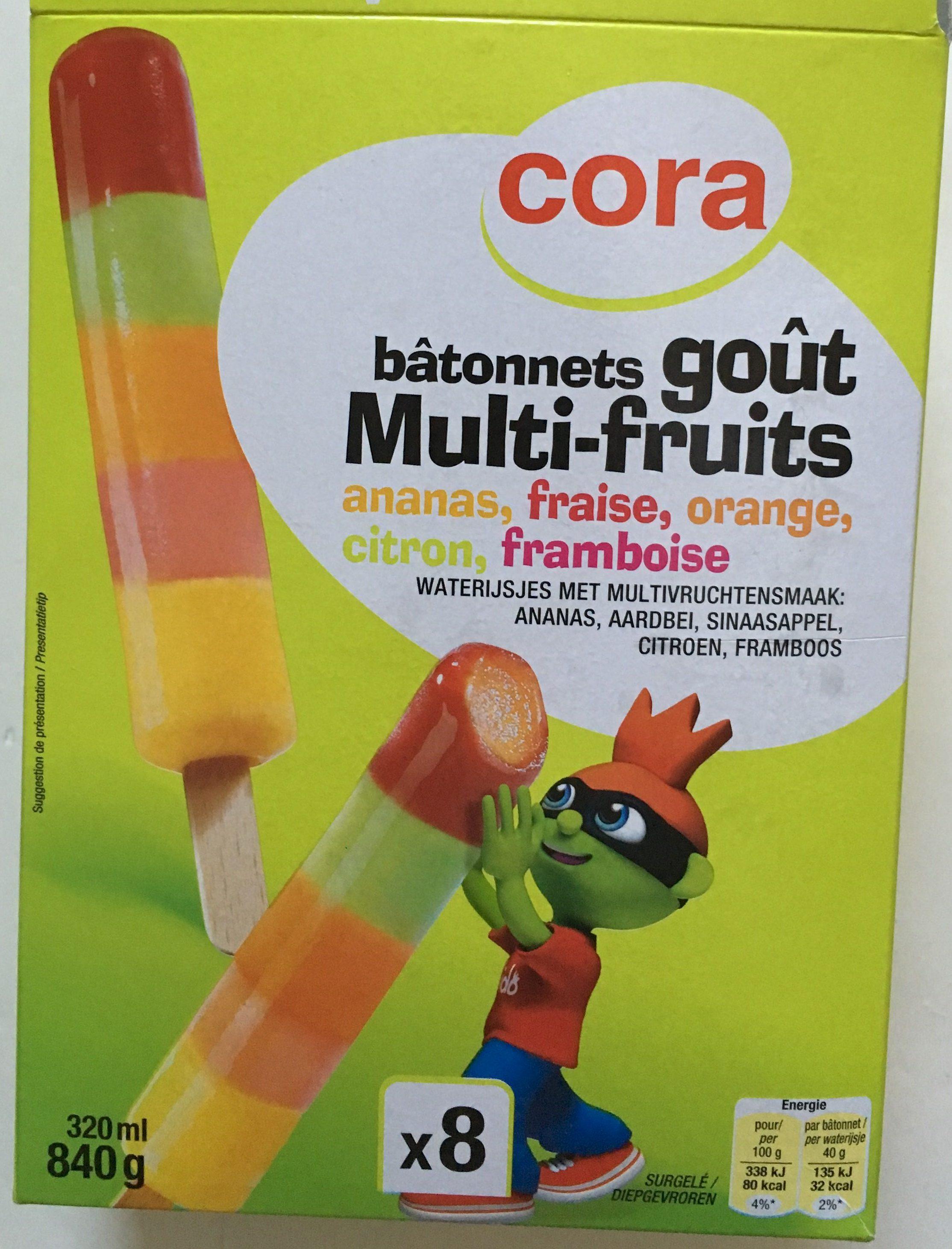 Bâtonnets goût Multi-fruits ananas, fraise, orange, citron, framboise - Product