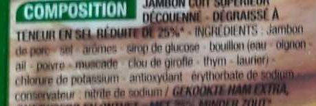 Le Paris supérieur (-25% de sel) - Ingrédients - fr