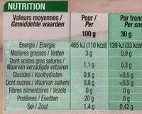 Le Paris supérieur (-25% de sel) - Informations nutritionnelles - fr