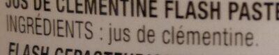 Pur jus de Clémentine - Ingredients