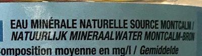 Eau minerale naturelle - Ingrediënten - fr