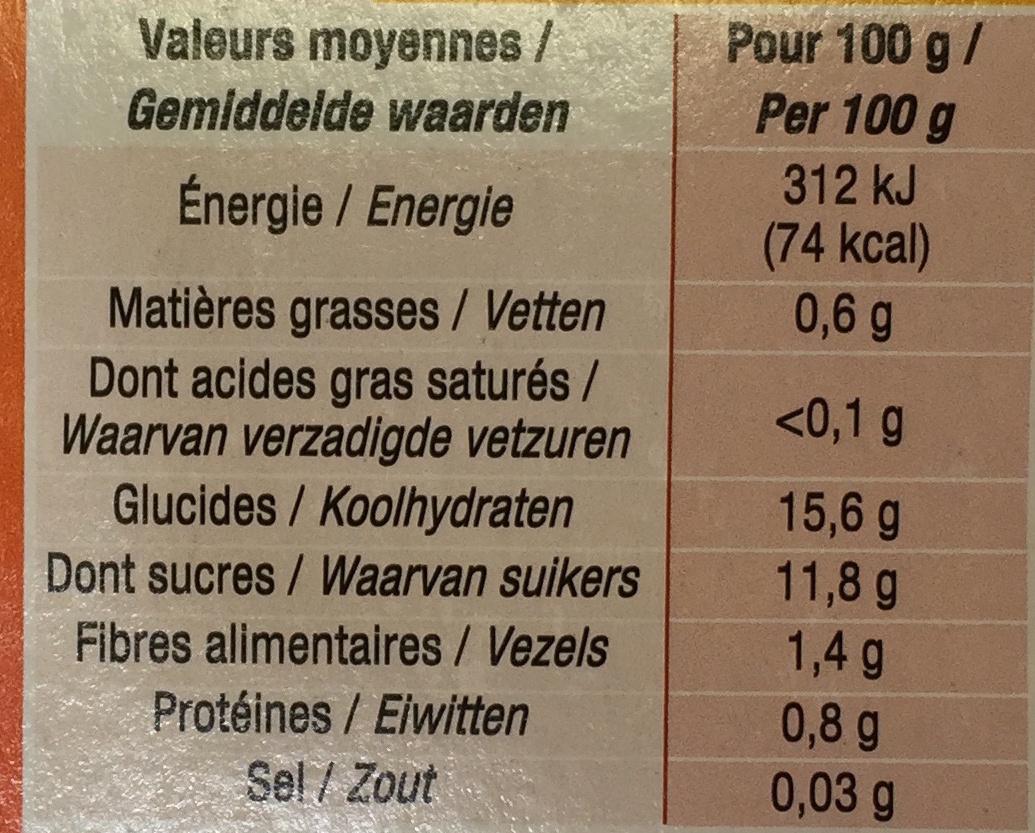 Pomme biscuit - Informations nutritionnelles - fr
