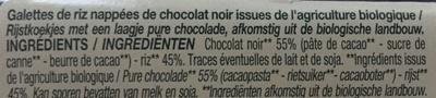 Galettes de riz chocolat noir - Ingredienti - fr