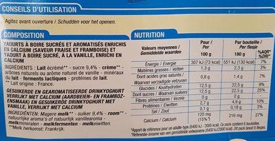 Yaourt à boire - Voedingswaarden