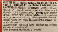 Nems crevette - Ingredients - fr