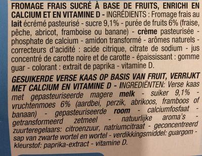 Fromage frais aux fruis - Ingrediënten - fr