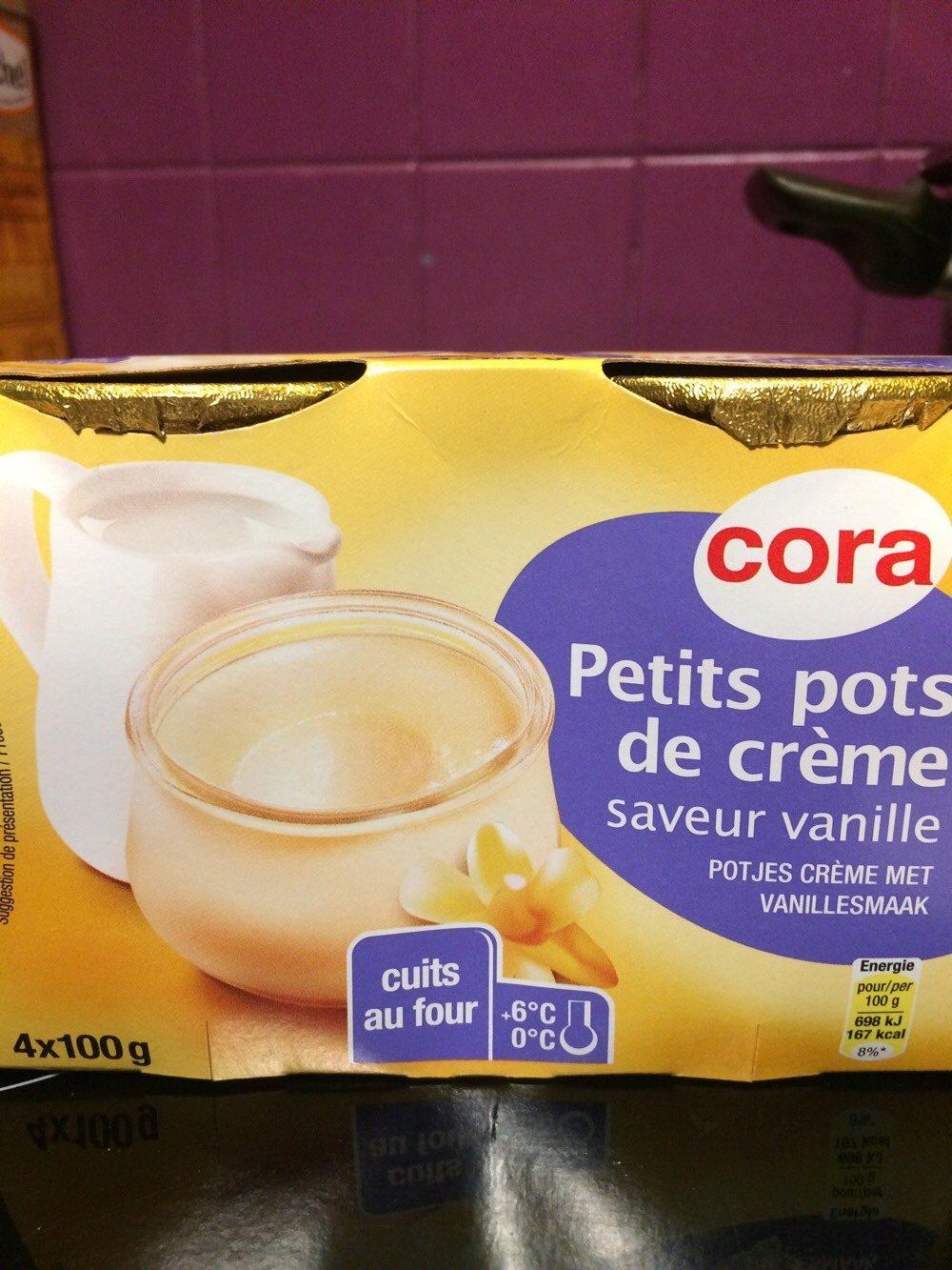 Petits pots de creme saveur vanille - Produit - fr