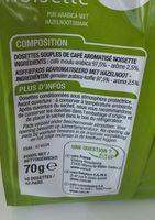 Café pur arabica saveur noisette - Ingrediënten