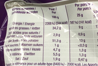 Chips sel et poivre - Informations nutritionnelles - fr