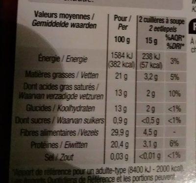 Cacao en poudre non sucré - Nutrition facts - fr