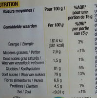 Kido poudre cacaotee - Nutrition facts