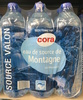 Eau de source de Montagne (source Valon) - Product