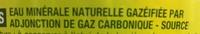 Eau minérale naturelle gazéifiée - Ingrédients - fr