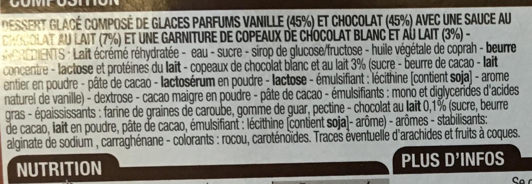 Dessert glacé parfum Chocolat - Ingrédients - fr