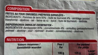 Frites au four - Ingredients - fr