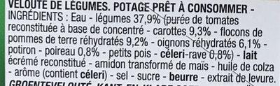 Velouté de légumes - Ingrédients