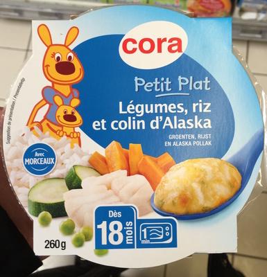 Petit Plat Légumes, riz et colin d'Alaska - Produit