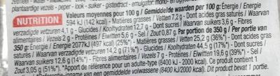 Lasagnes Ricotta Épinard gratinées - Informations nutritionnelles - fr