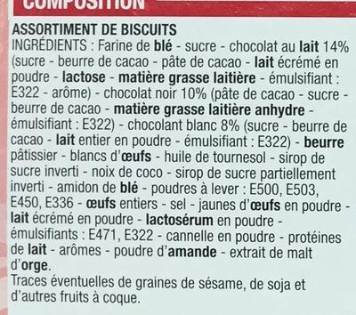 Assortiment de Biscuits (6 variétés) - Ingrédients