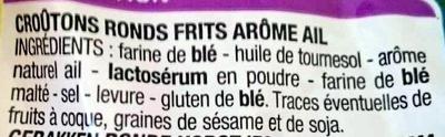Croûtons saveur Ail - Ingrédients - fr