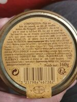 Pate recette perigourdine au foie de canard - Informations nutritionnelles - fr