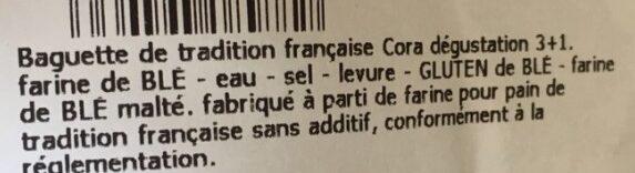 Baguette Tradition Française - Ingredienti - fr
