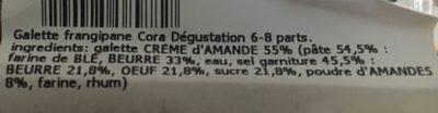 Galette des rois pur beurre - Ingredients