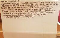 Pain au chocolat pur beurre - Ingrediënten