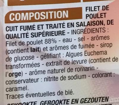 Blanc de Poulet goût fumé - Ingrediënten