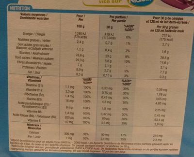 Boules Chocolat - Informations nutritionnelles - fr