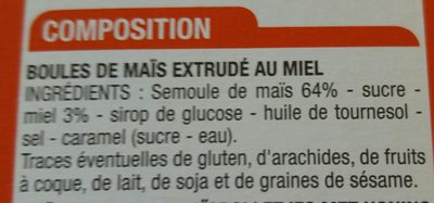 Boules maïs miel - Ingrédients - fr