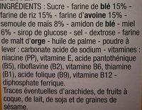 Anneaux de Miel - Ingrédients - fr