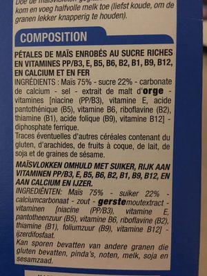Pétales de Maïs Glacés au Sucre - Ingredients - fr