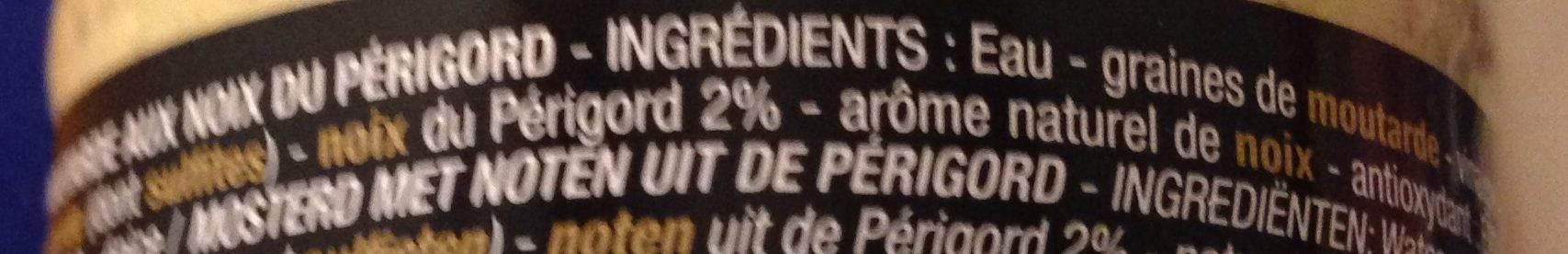Moutarde aux noix du Perigord - Ingredients - fr