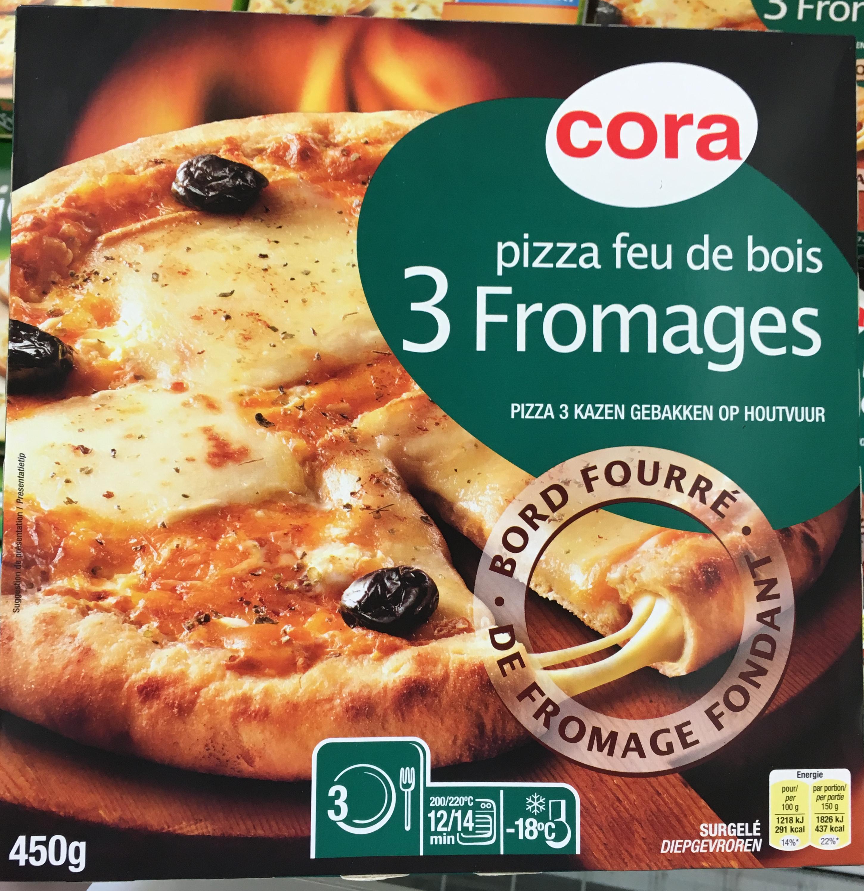 Pizza feu de bois 3 Fromages Cora 450 g # Pizza Feu De Bois Nancy