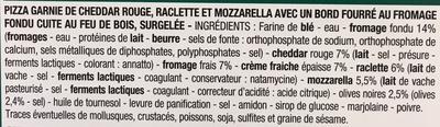 Pizza feu de bois 3 Fromages - Ingrédients - fr