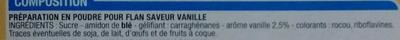 Entremet saveur vanille - Ingredients