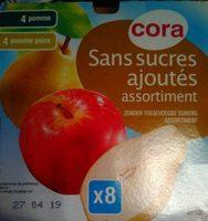 Compote pomme et pomme poire - Produit