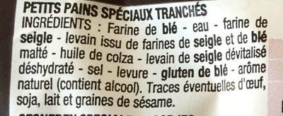 4 Pains Carrés Burger - Ingredients