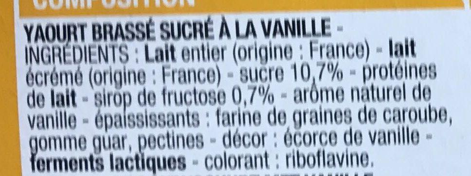 yaourt brass vanille cora 1 kg. Black Bedroom Furniture Sets. Home Design Ideas