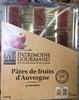 Pâtes de fruits d'Auvergne 4 saveurs - Produit